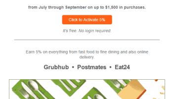Activate Discover Q3 2019 Bonus Categories, 5% at Restaurants & PayPal