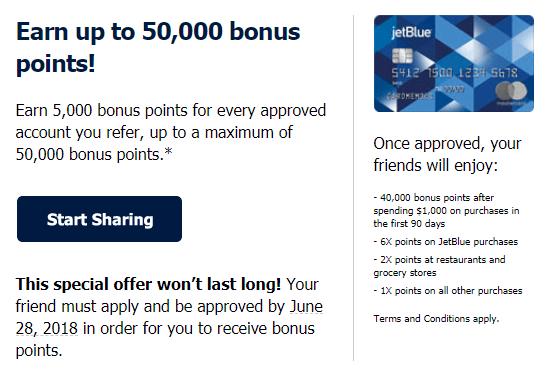 jetblue plus referral bonus