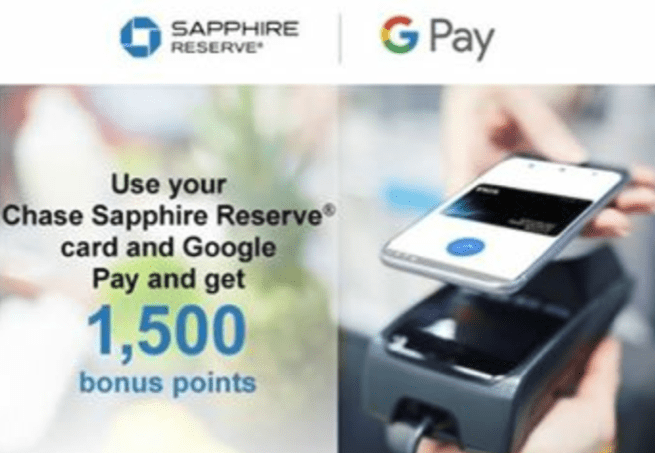 Use Chase Cards with Google Pay and Earn 1,500 Bonus Points