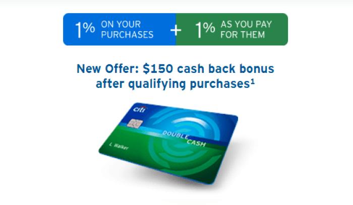 citi double cash 150 bonus