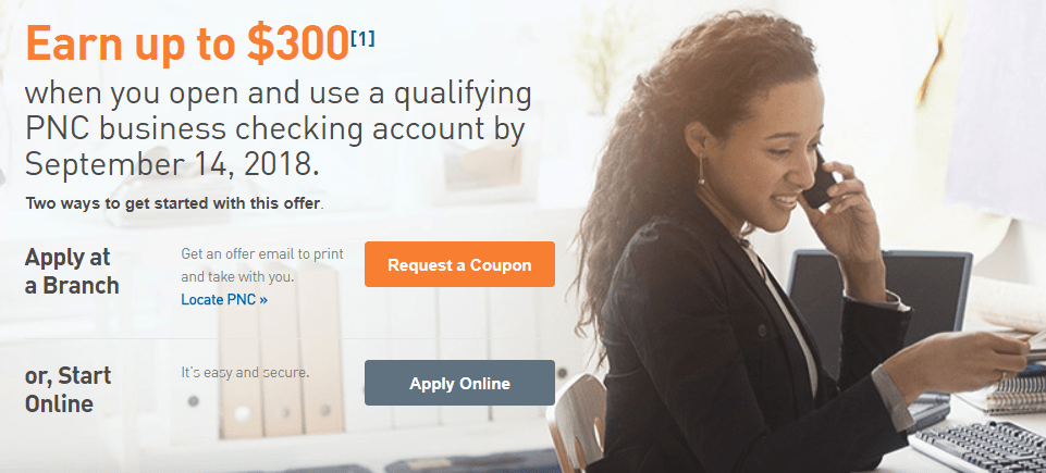 Expired] PNC Bank Business Checking Bonus, Earn up to $300