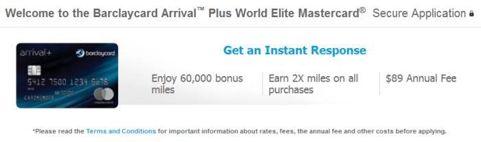 Arrival Plus 60,000 Bonus