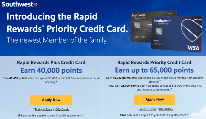 Chase Southwest Priority Card