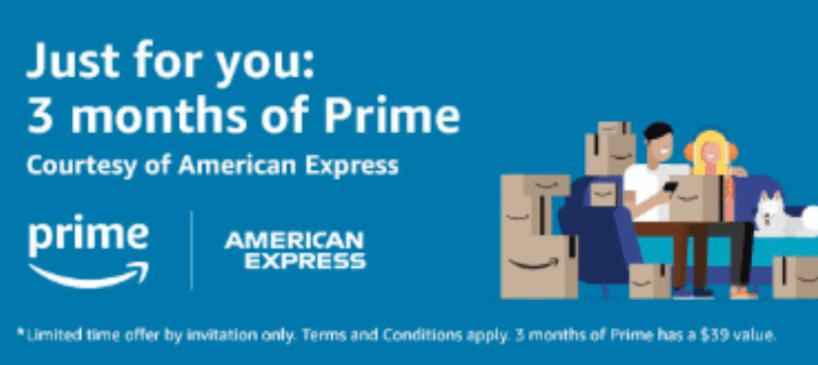 Targeted Offer From American Express 3 Free Months Of Amazon Prime