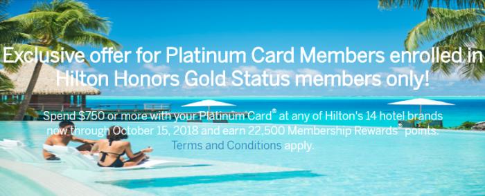 Amex Platinum Hilton Offer