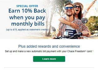chase 10% savings bills