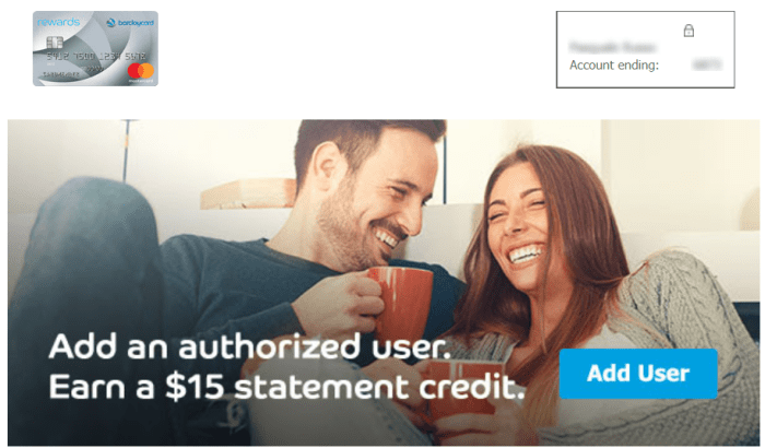 Barclays Authorized User Bonus