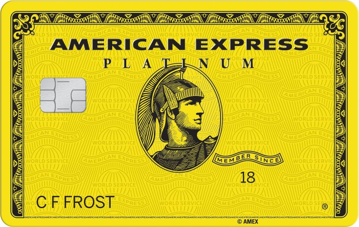 Yellow Amex Platinum card