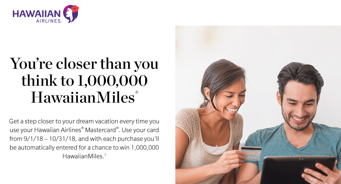 Enter to Win One Million Hawaiian Miles
