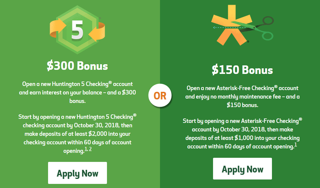 Expired] Huntington National Bank $300 Checking Account Bonus, No DD