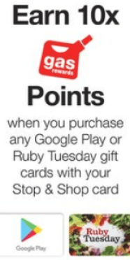 stop shop fuel points google play ruby tuesday