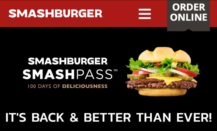 SmashBurger smash pass