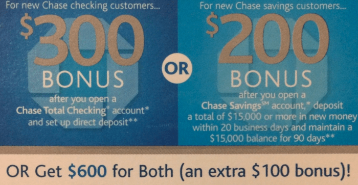 chase 600 bonus