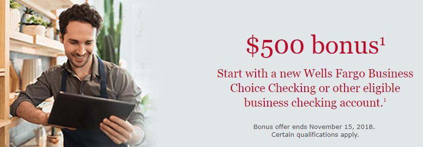 Expired] Great Business Bonus! Get $500 from Wells Fargo