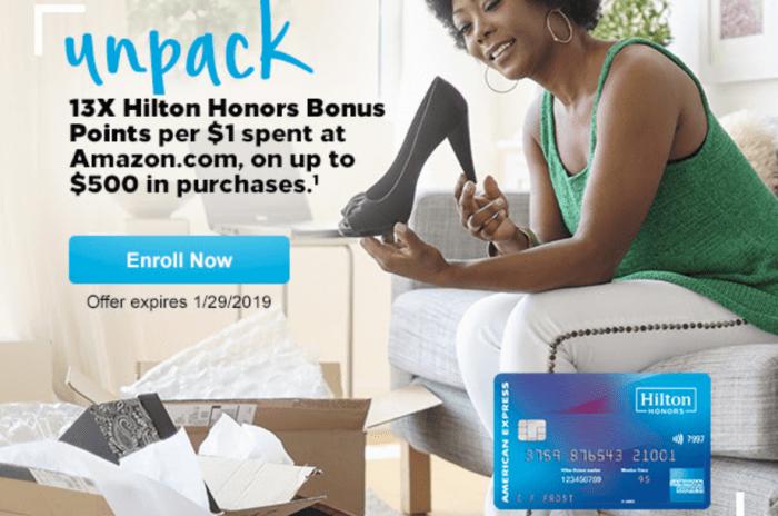Amex Hilton Amazon offer