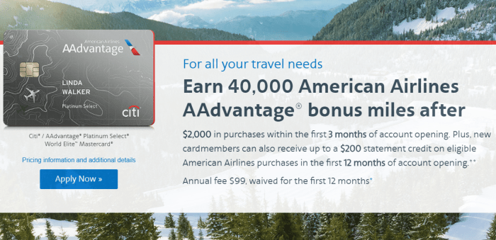 Citi AA Mastercard Offer