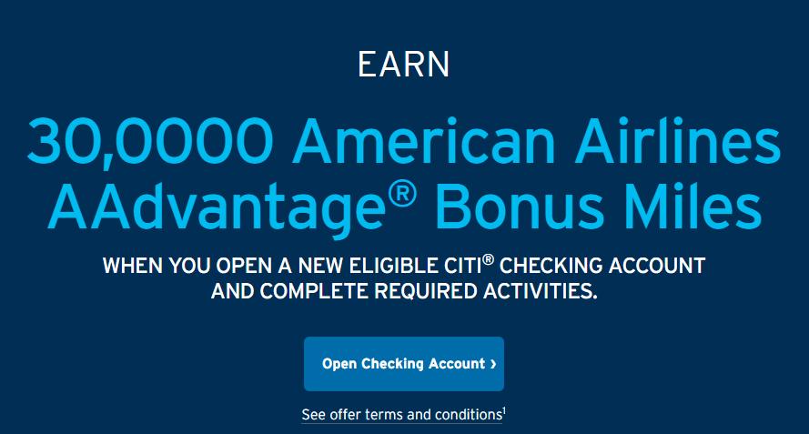 Expired] Citi Checking Bonus, Earn 30K AAdvantage Miles with