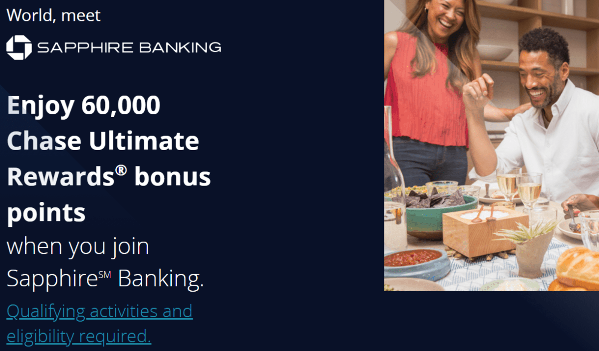 Chase Sapphire Banking, Get 60K Ultimate Rewards When You Upgrade or Sign Up