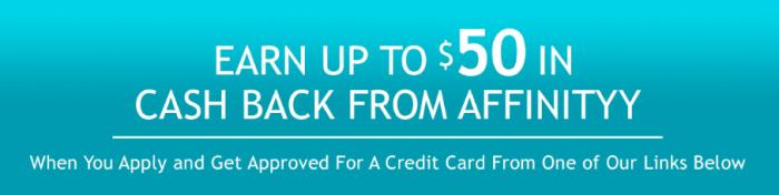 Affinityy 50 credit card bonus