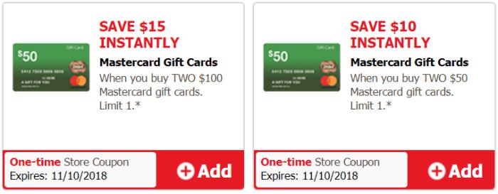 mastercard gift card discount