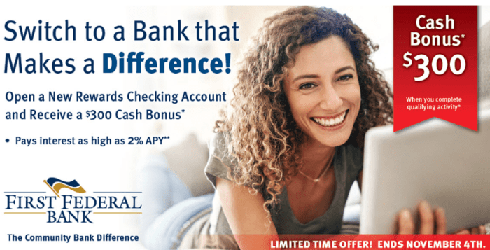 First Federal Bank of Wisconsin bonus