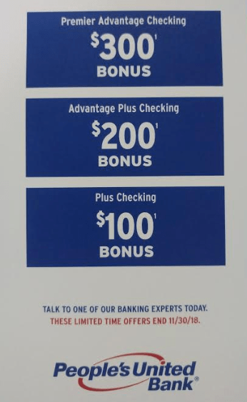 people's united bank 300 bonus