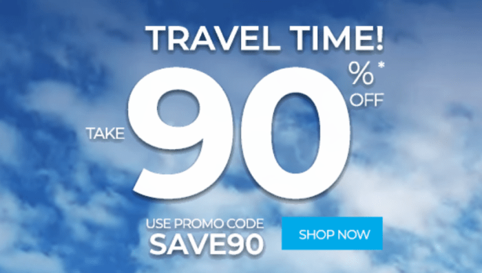 90% Off Frontier Airlines