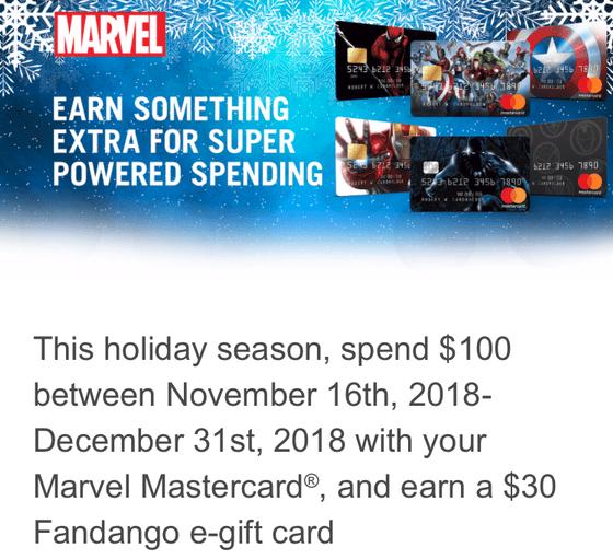 marvel mastercard fandango