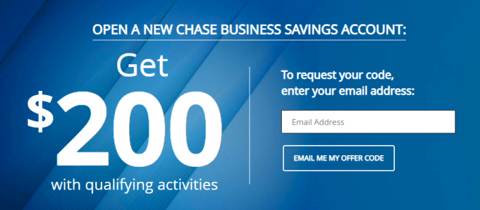 Chase Business Savings Bonus
