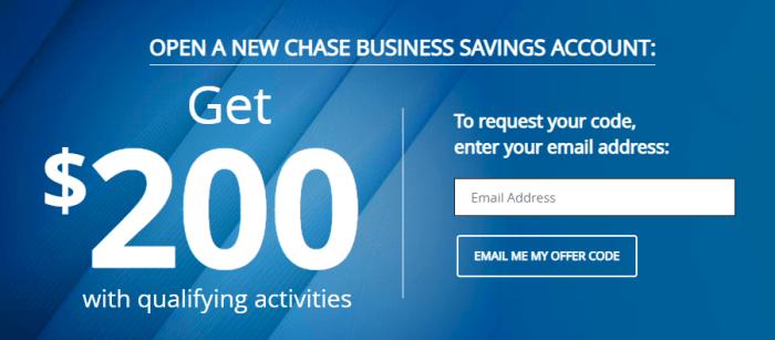 Chase Business Savings Bonus