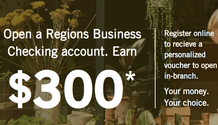 Regions Bank business bonus