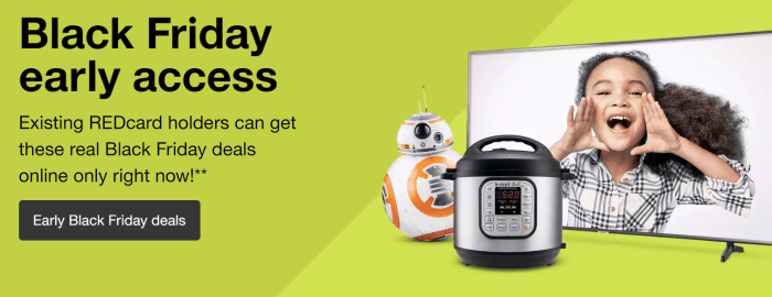 Target Early Acces Black Friday Deals