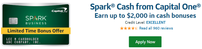 Capital One Spark 2K bonus