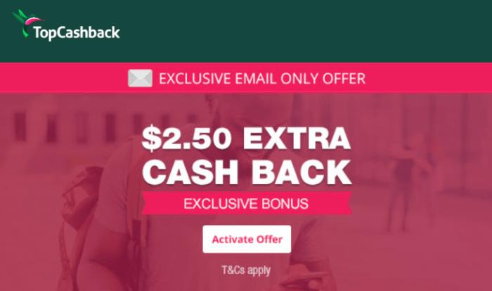 topcashback 2.50 bonus
