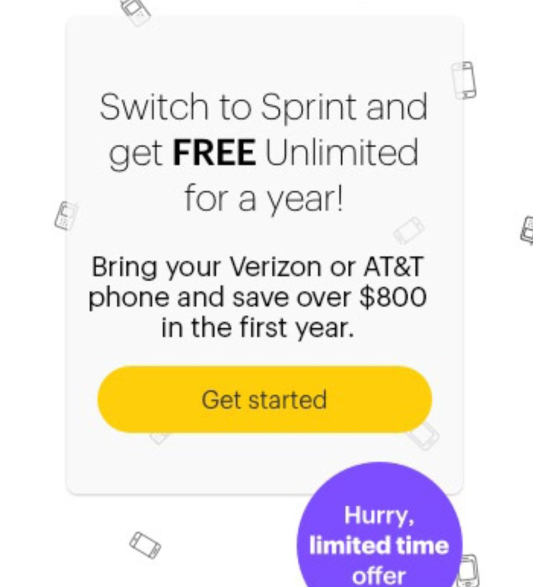 Sprint, Get One Free Year of Unlimited Talk, Text and Data