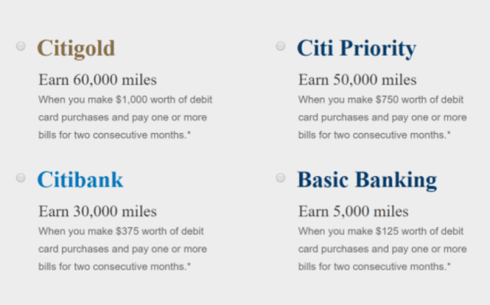 Citi Checking american airlines bonus