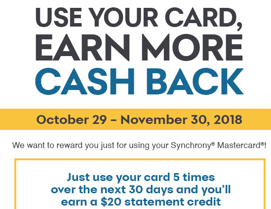 Synchrony Mastercard Spending Bonus