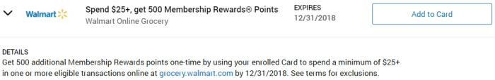 Walmart Grocery Amex Offer