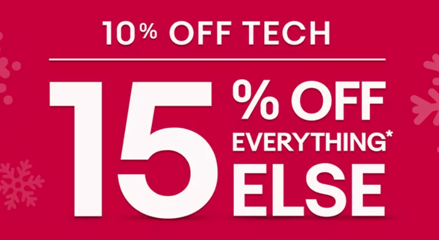 eBay, Save 15% on Tech and 10% Off Everything Else