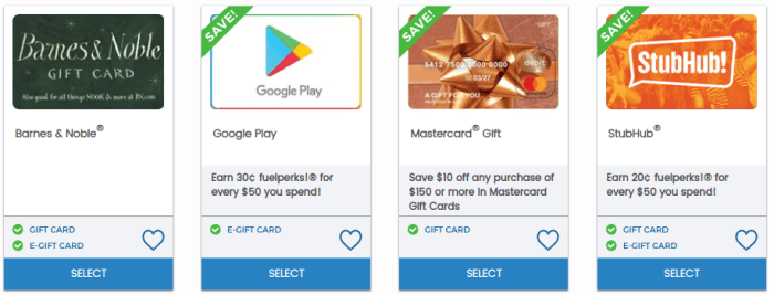 giant eagle gift card deals