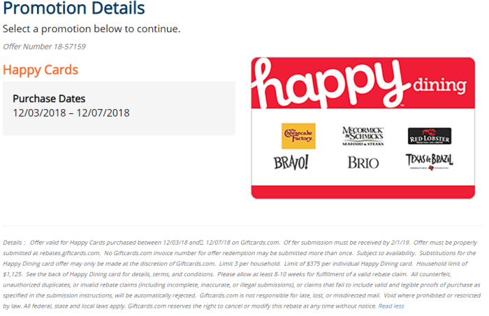 GiftCards.com happy gift card promo