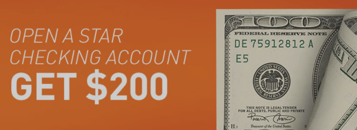 $200 Star Financial Bonus