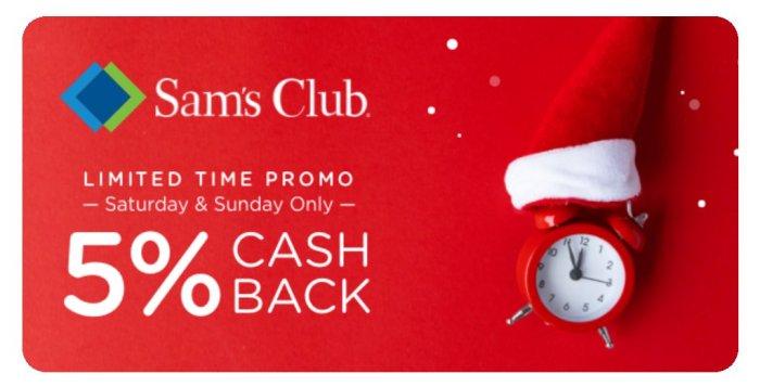 Dosh Sam's club 5% cashback