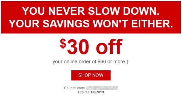 $30 Off $60 Coupon from Staples, Check Your Emails (Targeted)