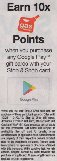 stop shop fuel points google play gift cards