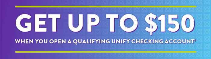 Unify Financial Credit Union bonus