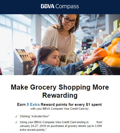 BBVA Compass Visa grocery offer