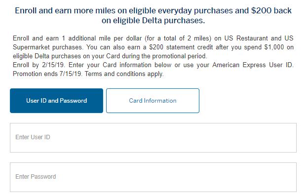 amex delta supermarket offer
