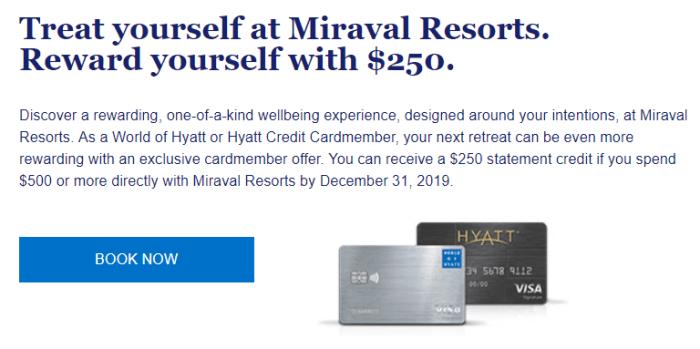 Miraval Resorts 250 credit