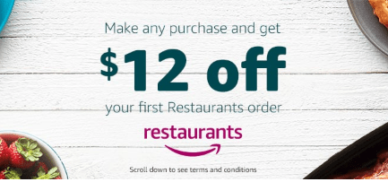 Amazon Restaurants Make One Amazon Purchase Get 12 Off Your First